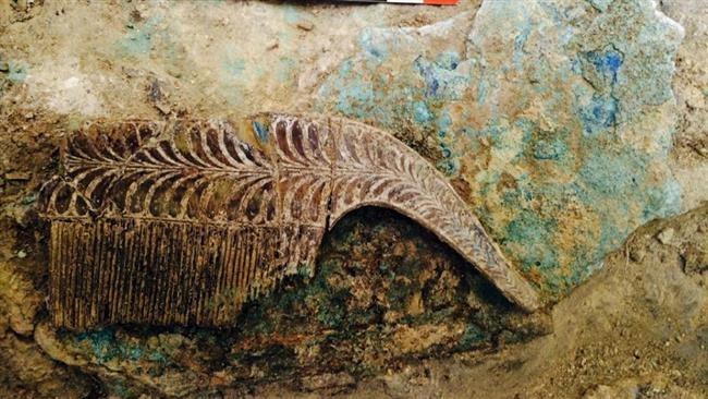 Phát hiện ngôi mộ chiến binh 3.500 tuổi chôn cất cùng kho báu - ảnh 1