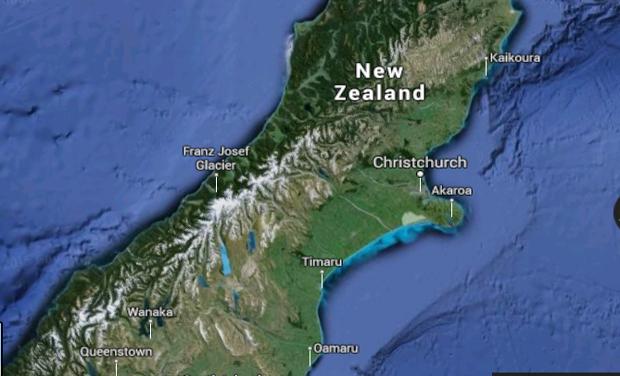 Trực thăng chở bảy người rơi ở New Zealand - ảnh 1