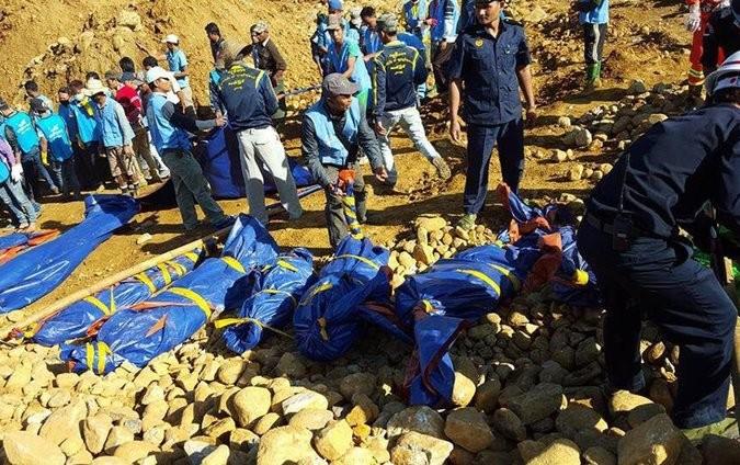 Gần 200 người bị chôn vùi tại mỏ ngọc thạch ở Myanmar - ảnh 1