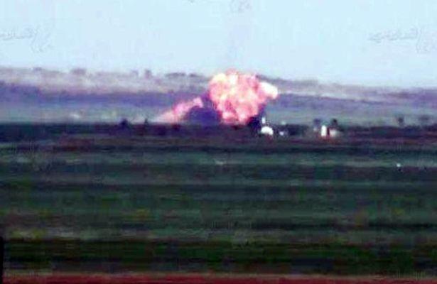 Su-22 bị bắn hạ bằng tên lửa tại Syria - ảnh 1