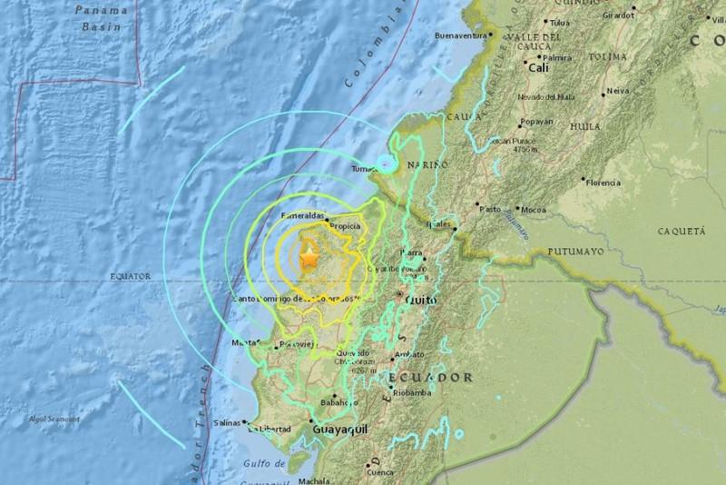 Động đất 7,8 độ Richter tại Ecuador, ít nhất 28 người chết - ảnh 1