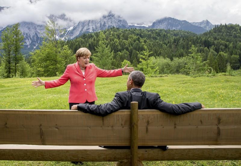 Mối thâm tình hiếm có giữa tổng thống Mỹ và thủ tướng Đức  - ảnh 2