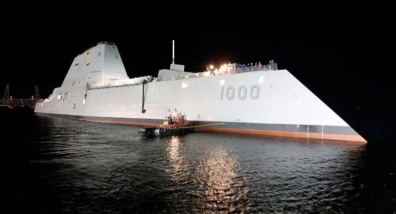 'Quái vật' chiến hạm của Mỹ bắt đầu chạy thử nghiệm - ảnh 1