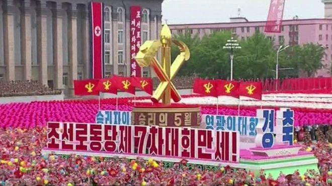 Triều Tiên diễu binh quy mô lớn mừng đại hội đảng kết thúc - ảnh 1