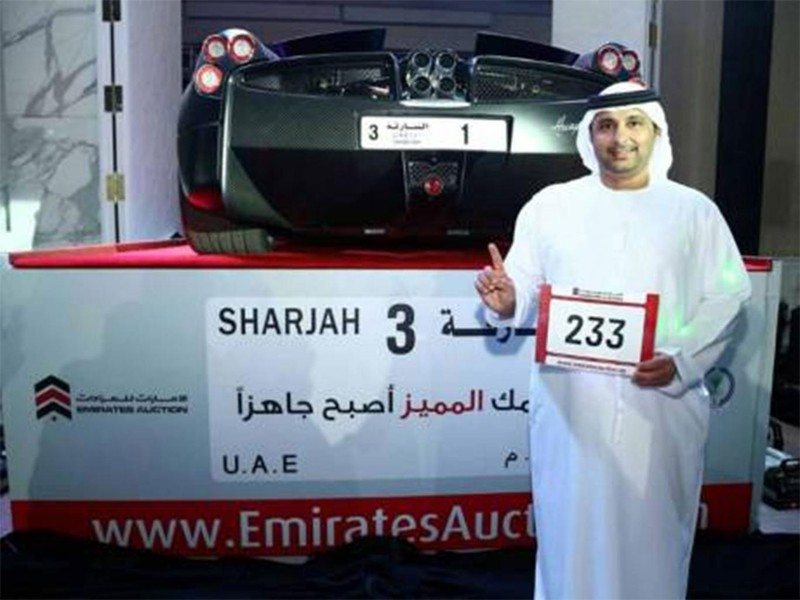 Triệu phú Ả Rập chi gần 5 triệu USD để mua biển số xe 'độc' - ảnh 1