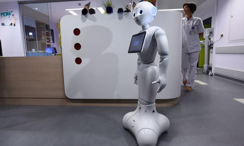 Bỉ trình làng robot lễ tân bệnh viện đầu tiên thế giới - ảnh 1