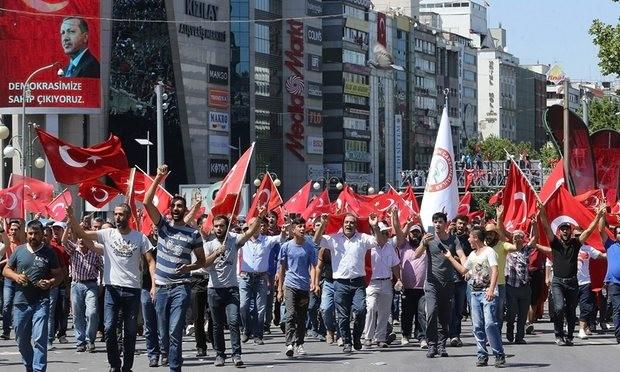 Hàng triệu người tuần hành ủng hộ Tổng thống Thổ Nhĩ Kỳ - ảnh 1
