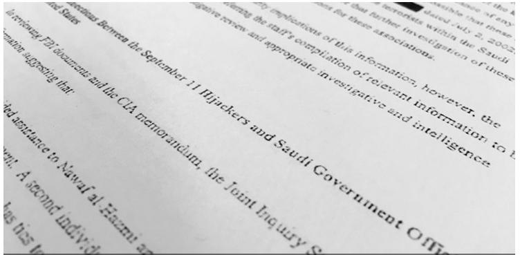 Mỹ công bố tài liệu vụ 11-9 liên quan đến Ả Rập Saudi - ảnh 1