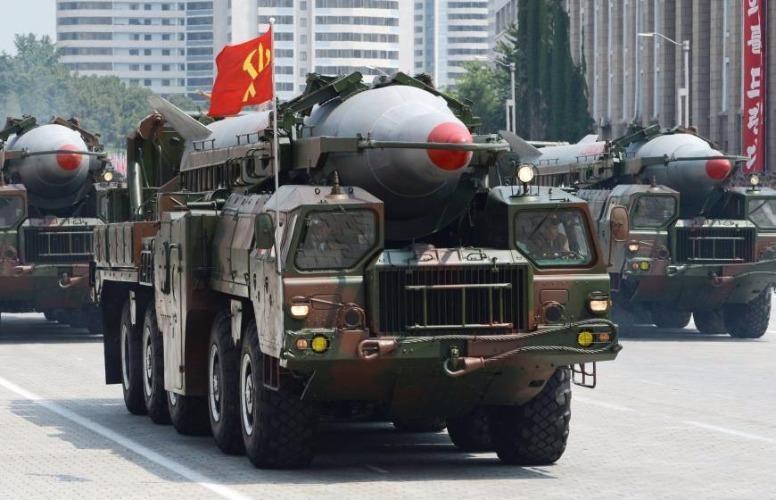 Tên lửa Rodong trong cuộc diễu hành quân sự tại Quảng trường Kim Nhật Thành ở Bình Nhưỡng hồi tháng 7-2013.