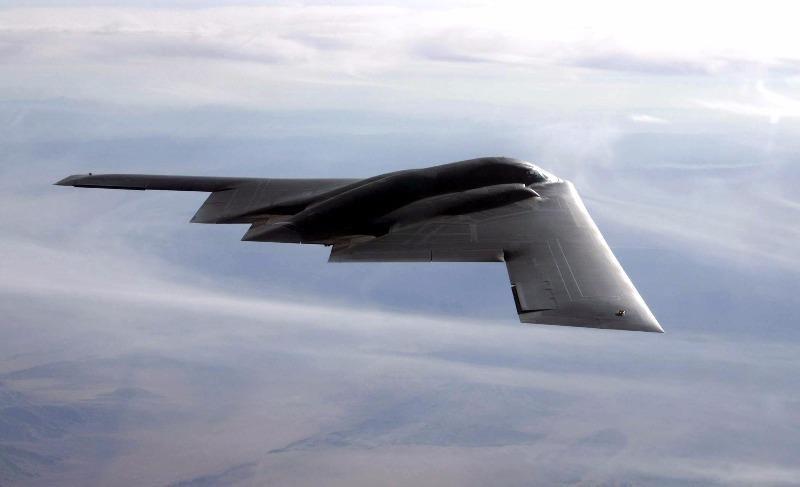 Máy bay ném bom chiến lược B-2 đủ khả năng mang bom hạt nhân.