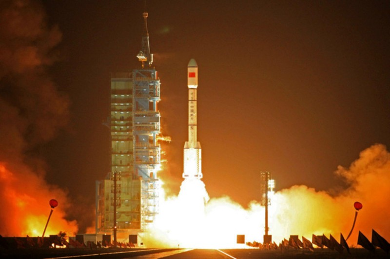 Trung Quốc phóng trạm vũ trụ Thiên Cung-1 vào quỹ đạo hồi tháng 9-2011. Ảnh: PA