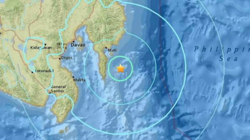 Động đất 6.3 độ rung chuyển quê nhà ông Duterte - ảnh 1