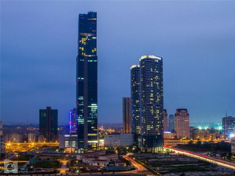 Tòa nhà chọc trời Keangnam Hanoi Lanmark Tower cao 72 tầng tại Hà Nội. Ảnh: Vietnamapartments