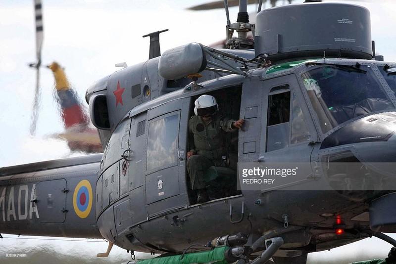 Một chiếc trực thăng quân sự của Venezuela. Ảnh: GETTY