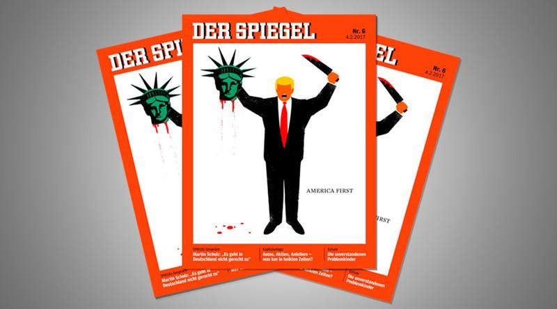 Tạp chí Đức bảo vệ biếm họa 'nhạy cảm' về ông Trump - ảnh 1