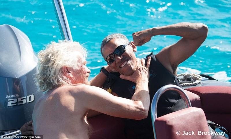 Ông Obama tận hưởng tại đảo thiên đường cùng tỉ phú - ảnh 4