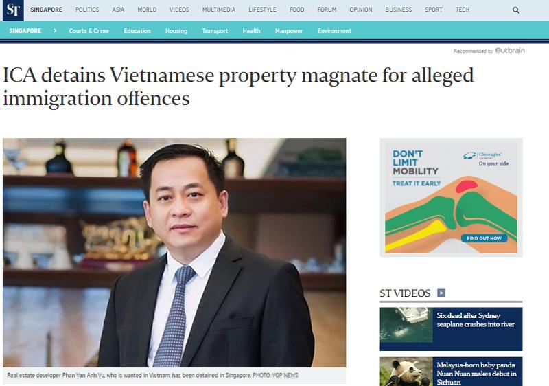 Singapore xác nhận đang tạm giữ ông 'Phan Van Anh Vu' - ảnh 1