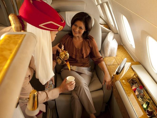 Khoang hạng nhất dát vàng trên máy bay Emirates - ảnh 10