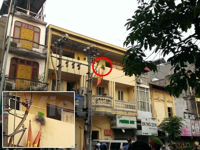 Nổ bốt điện trước trụ sở Công an phường, có thương vong về người - ảnh 1