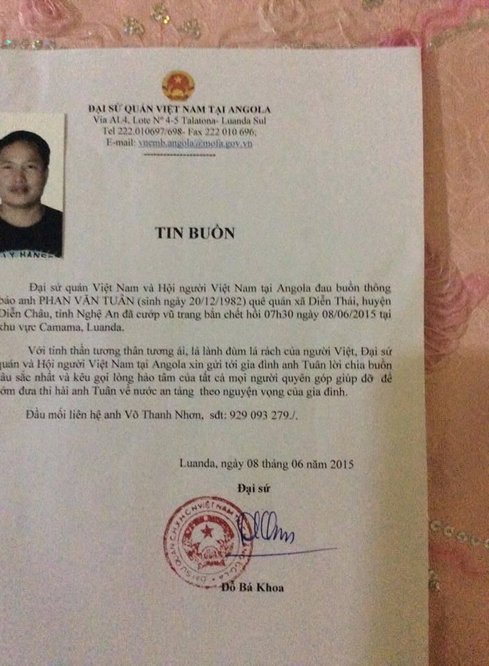 Đại sứ quán kêu gọi quyên góp để đưa thi thể nạn nhân về quê - ảnh 2