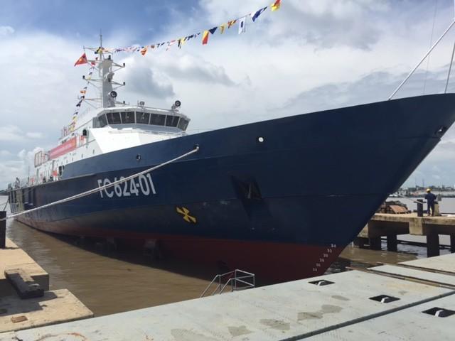 Hạ thủy tàu tuần tra kết hợp tìm kiếm cứu nạn xa bờ hiện đại - ảnh 3