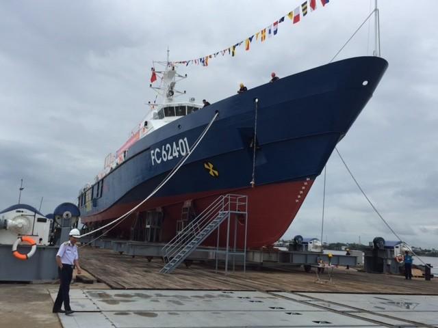 Hạ thủy tàu tuần tra kết hợp tìm kiếm cứu nạn xa bờ hiện đại - ảnh 4