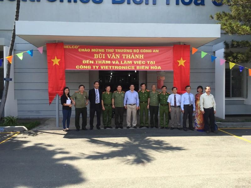 Thứ trưởng Bộ Công an thăm và làm việc tại Viettronics Biên Hòa (Belco) - ảnh 1