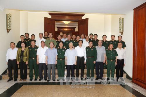 Bộ Chính trị làm việc với Ban Thường vụ Quân ủy Trung ương - ảnh 2