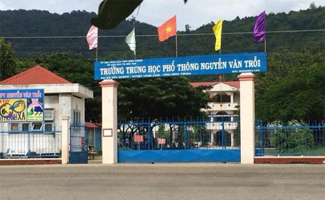 Trường THPT Nguyễn Văn Trỗi, nơi có một nam sinh bị tạm giữ - Ảnh: Thiện Trí