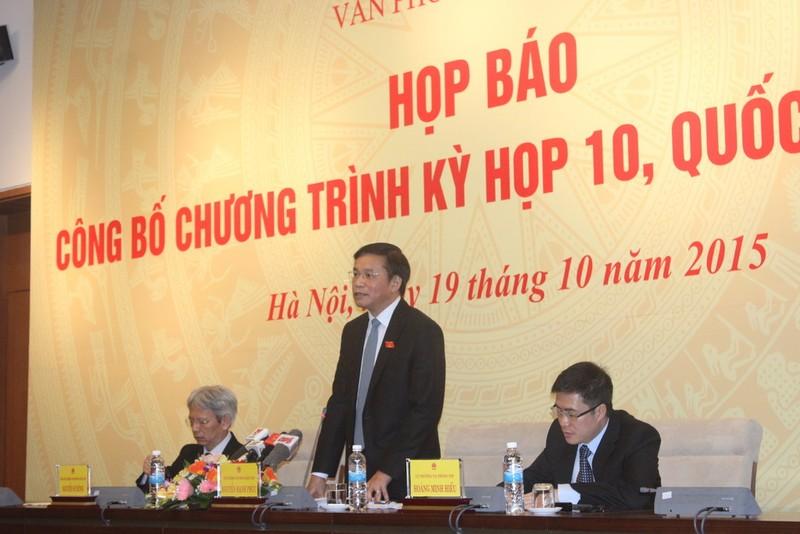 Quốc hội sẽ bầu Tổng thư ký tại kỳ họp 10 - ảnh 1