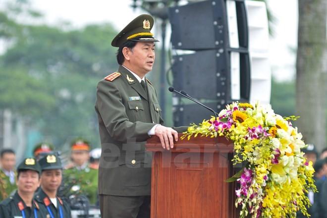 Bộ trưởng Trần Đại Quang phát lệnh xuất quân bảo vệ Đại hội Đảng - ảnh 2