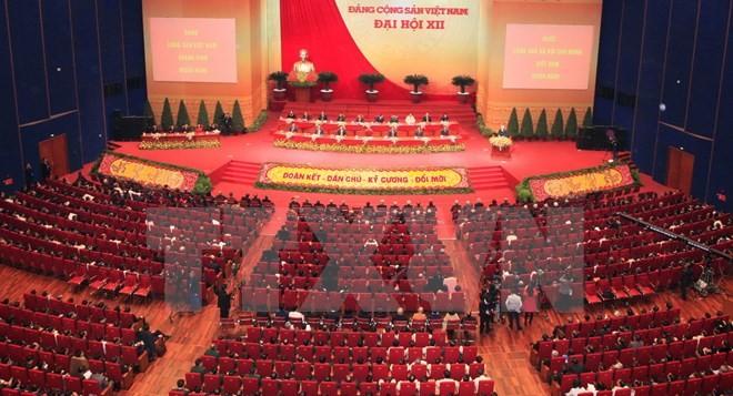 Toàn cảnh phiên bế mạc Đại hội toàn quốc lần thứ XII của Đảng - ảnh 1