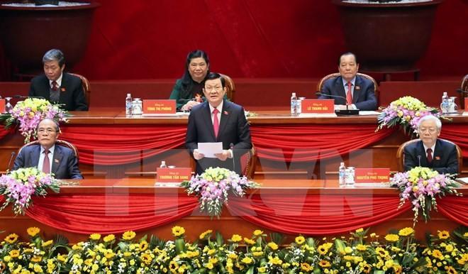 Toàn cảnh phiên bế mạc Đại hội toàn quốc lần thứ XII của Đảng - ảnh 2