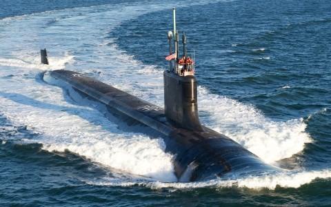 Một chiếc tàu ngầm lớp Virginia. Ảnh AP