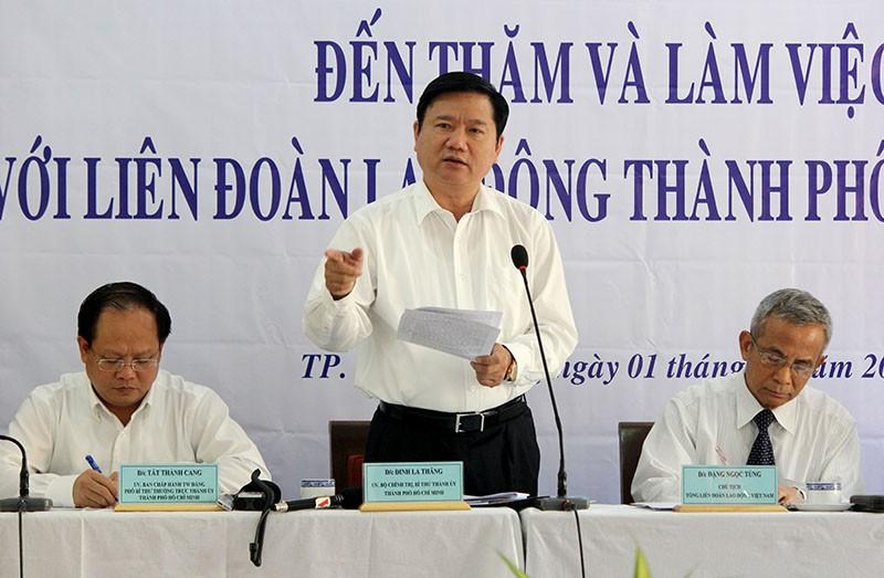 Bí thư Đinh La Thăng yêu cầu công đoàn TP 'phải có sự khác biệt' - ảnh 1