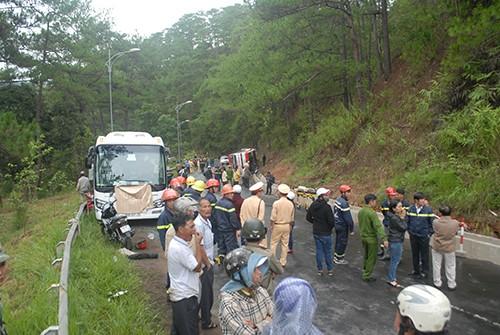 Kinh hoàng: 2 xe khách tông nhau trên đèo Prenn, 7 người chết - ảnh 7