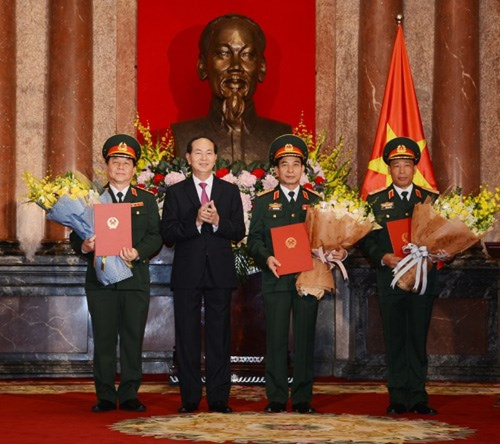 Chủ tịch nước trao quyết định thăng quân hàm cấp tướng - ảnh 1