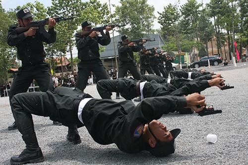Xem cảnh sát cơ động Bình Dương trình diễn võ thuật - ảnh 3