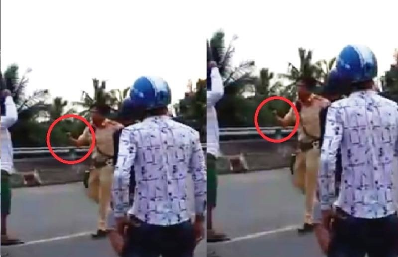 Bị vây khi xử lý vi phạm, CSGT rút súng tự vệ  - ảnh 1