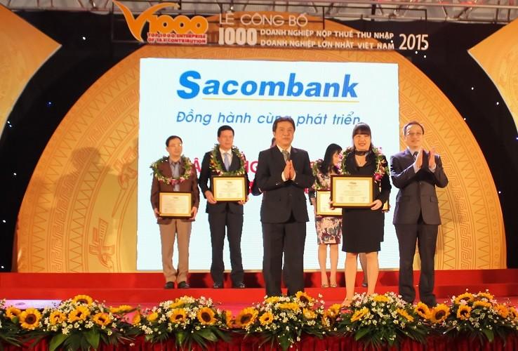 Sacombank: Top 1.000 DN nộp thuế thu nhập doanh nghiệp lớn nhất 2015 - ảnh 1