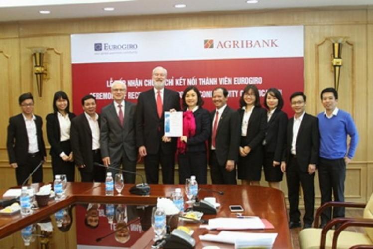 Agribank nhận chứng chỉ kết nối thành viên Eurogiro - ảnh 1