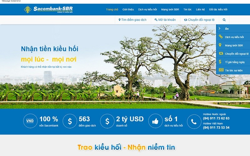 Sacombank - SBR công bố giao diện website mới - ảnh 1