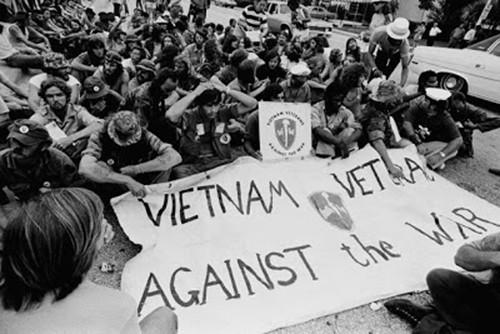 Phong trào phản chiến củaHội Cựu binh Vì Hòa bình năm 1972. Ảnh: Corbis
