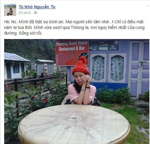 Phóng viên Báo Pháp Luật TP.HCM mất liên lạc từ Nepal đã an toàn - ảnh 1