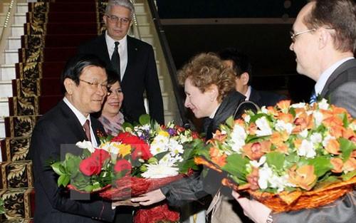 Chủ tịch nước đến Nga dự Lễ kỷ niệm Chiến thắng phát xít - ảnh 1