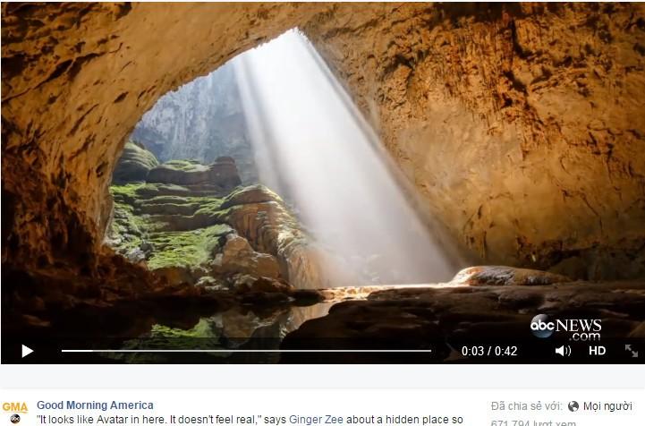 """Clip quay cảnh hang Sơn Đoòng của đài truyền hình ABC """"gây bão"""" trên mạng - ảnh 1"""