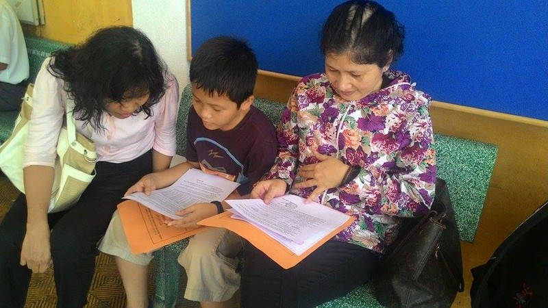 Trường THPT chuyên Trần Đại Nghĩa bắt đầu phát đơn dự tuyển vào lớp 6 - ảnh 4