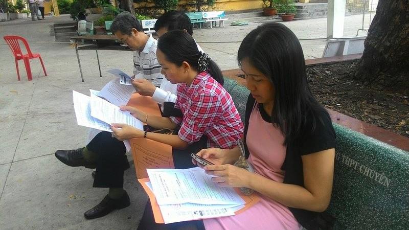 Trường THPT chuyên Trần Đại Nghĩa bắt đầu phát đơn dự tuyển vào lớp 6 - ảnh 3
