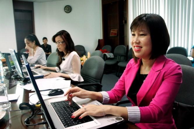 Đại diện Trung tâm Giáo dục Quốc tế StudyLink International - một đơn vị tư vấn du học ở TP.HCM - trong lần tư vấn trực tuyến cho bạn đọc TTO. Ảnh tư liệu.