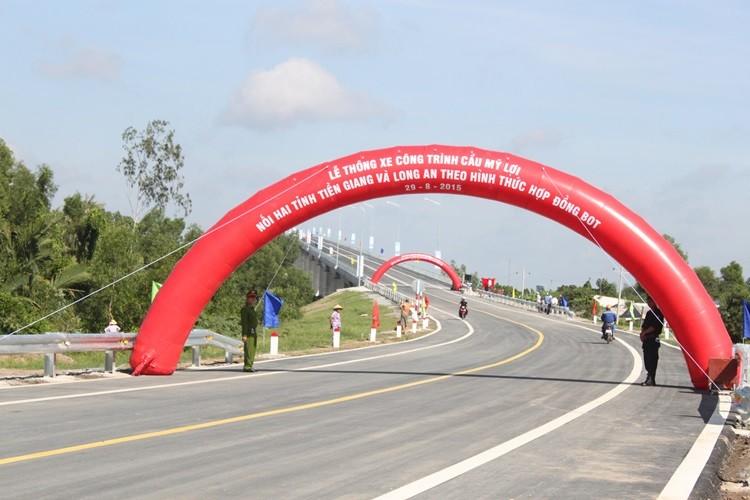 Thông xe cầu Mỹ Lợi: Rút ngắn 75km từ Tiền Giang đến TP.HCM - ảnh 1